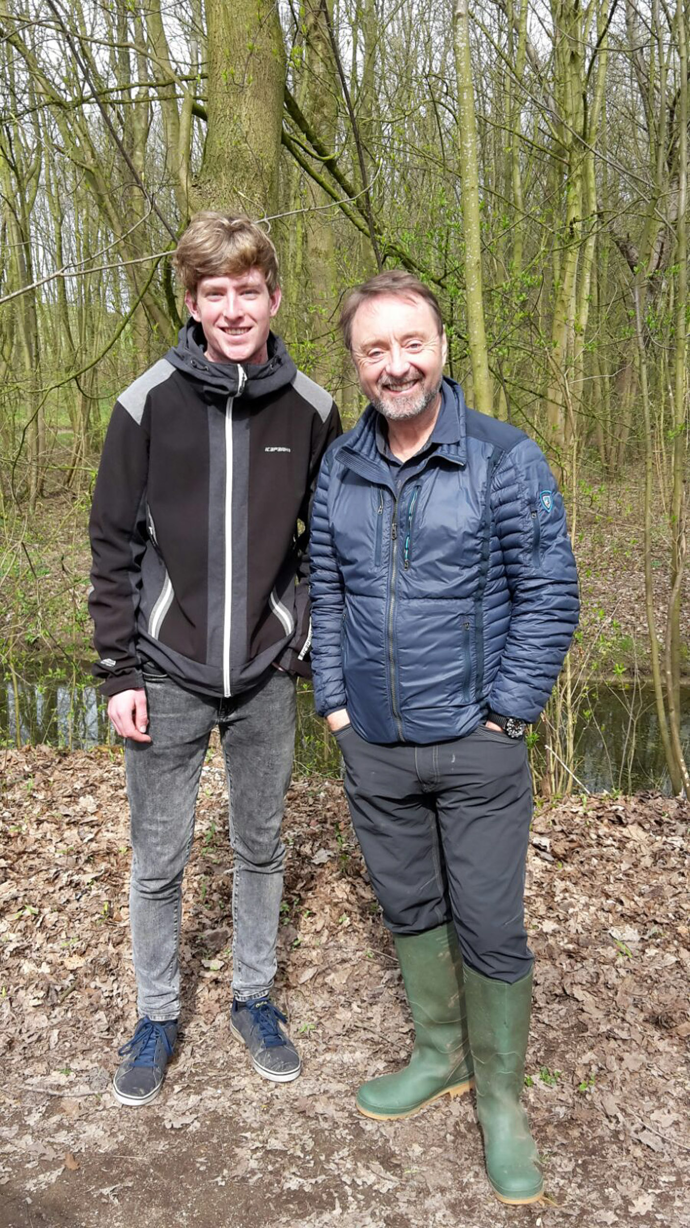 With the famous nature photographer Frans Lanting
