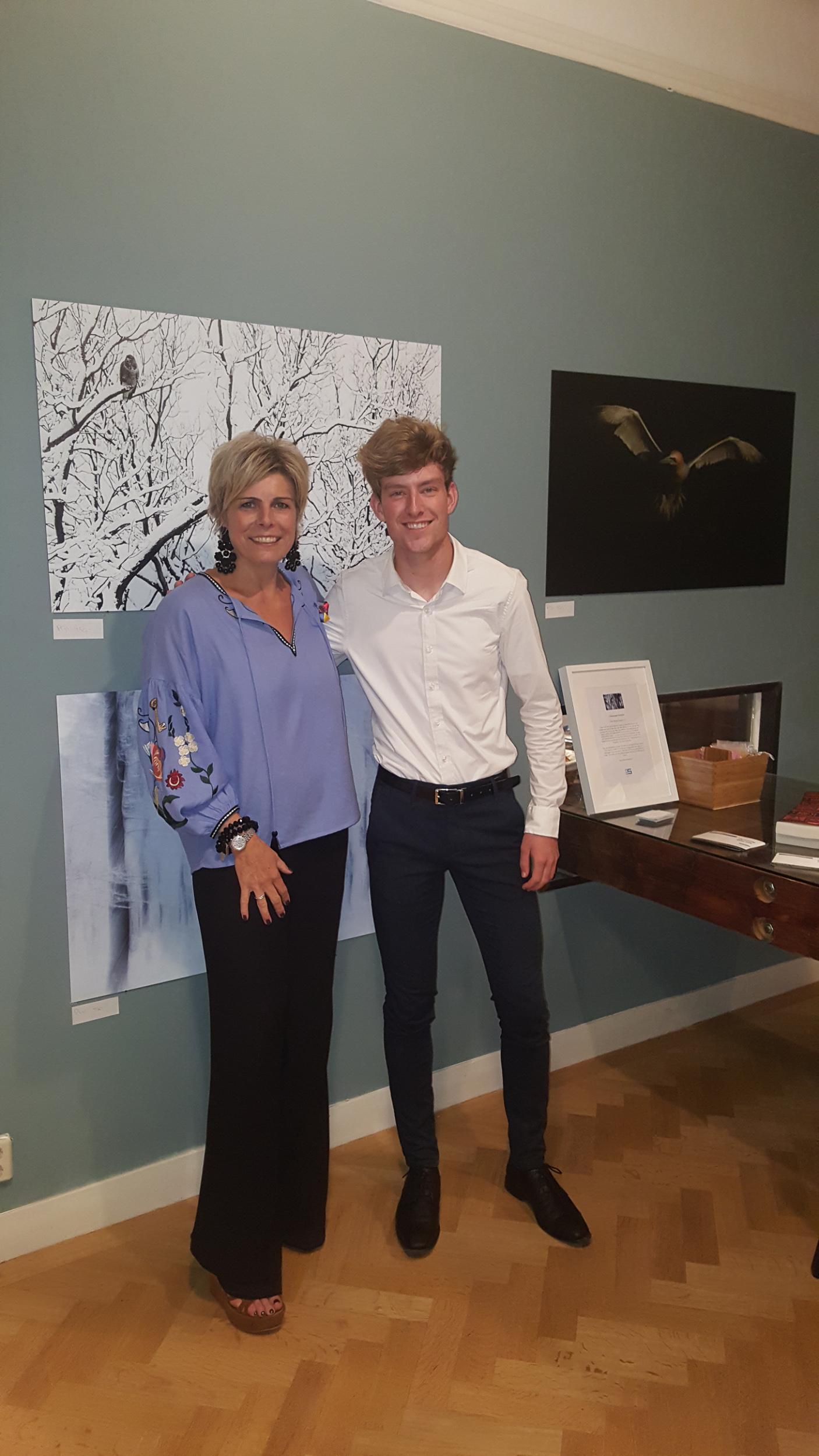 With the Dutch Princess Laurentien van Oranje