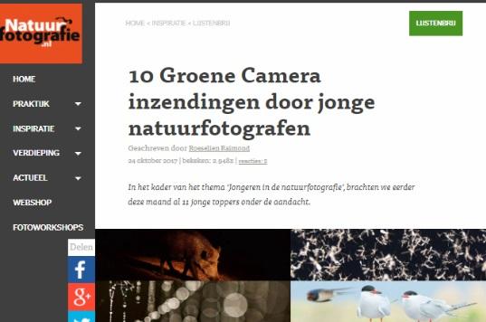 Natuurfotografie.nl - 10 Groene Camera inzendingen door jonge natuurfotografen