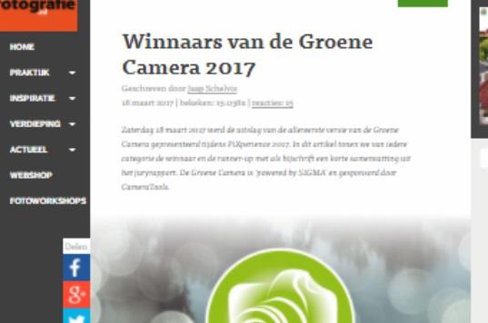 Winnaars van de Groene Camera 2017